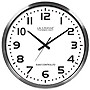 XL 20in. Atomic Aluminum Clock