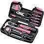 Apollo 39 Piece General Tool Set - Pink - Pink
