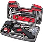 Apollo 69 Piece Household Tool Kit with 4.8 V Cordless Screwdriver - Gray