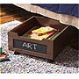 "Homz Underbed Storage - 15 lb - 14.5"" Height x 16.8"" Width x 19"" Depth External Dimensions - Wood - Mahogany"