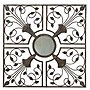 "Gardman 8405 22"" X 22"" Antique Rust Moorish Mirror"