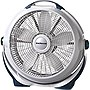 "Lasko 3300 Wind Machine Floor Fan - 5 Blades - 508mm Diameter - 3 Speed x 6.5"" Depth - Gray Housing"