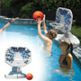 Poolmaster Splashback Poolside Basketball Game, White/Blue/White, OS