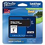 "Brother 24mm (0.94"") White on Black Tape for P-Touch, 8m (26.2 ft)"