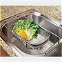 Amco Over the Sink Colander, Stainless Steel