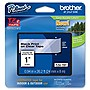"Brother 24mm (0.94"") Black on Clear Tape for P-Touch, 8m (26.2 ft)"