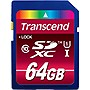 Transcend 64 GB Secure Digital Extended Capacity (SDXC) - Class 10/UHS-I - 1 Card