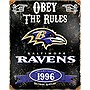 Party Animal Ravens Vintage Metal Sign
