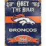 Party Animal Broncos Vintage Metal Sign
