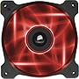 "Corsair Air Series AF120 LED Red Quiet Edition High Airflow 120mm Fan - Twin Pack - 1 x 4.72"" - 1500 rpm - Plastic"