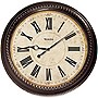"Westclox 32059 Classic 20"" Round Marble Case Wall Clock"