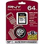 PNY Elite Performance 64 GB Secure Digital Extended Capacity (SDXC) - Class 10/UHS-I - 60 MBps Write - 1 Card