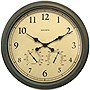 "AcuRite 24"" Copper Patina Indoor or Outdoor Wall Clock with Thermometer"