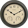 "Acu-Rite 15"" Copper Patina Indoor or Outdoor Clock with Thermometer & Humidity"