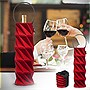 BUILT Neoprene Origami Wine Bottle Tote (Cheery Red)