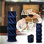 BUILT Neoprene Origami Wine Bottle Tote (Cheery Blue)