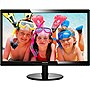 "Philips 246V5LHAB 24"" LED LCD Monitor - 16:9 - 5 ms - Adjustable Display Angle - 1920 x 1080 - 16.7 Million Colors - 250 Nit - 1,000:1 - Full HD - Speakers - HDMI - VGA - 21.75 W - Glossy Black - ENERGY STAR 6.0, RoHS, EPEAT Silver, WEEE, TCO Certified Di"