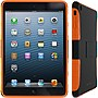 rOOCASE eXTREME Hybrid Shell Case for iPad mini - iPad mini - Orange, Black - Matte - Thermoplastic Polyurethane (TPU), Silicone