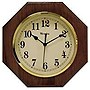 "Middleton quartz honey pine wood finish 10"" Octagon Wall Clock"