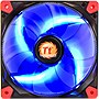 "Thermaltake Luna 12 LED Blue - 1 x 4.72"" - 1200 rpm - Sleeve Bearing - Rubber"