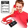 Universal Cell Phone Retro Handset (Red)
