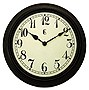 15IN PLASTIC WALL CLOCK WEATHERED FINISH