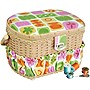 Michley Sewing Basket with 41 Pcs Sewing Kit FS-095