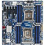 Gigabyte GA-7PESH1 Server Motherboard - Intel C602 Chipset - Socket R LGA-2011 - Enhanced Extended ATX - 2 x Processor Support - 512 GB DDR3 SDRAM Maximum RAM - Serial ATA/600, 6Gb/s SAS RAID Supported Controller - On-board Video Chipset - 2 x PCIe x16 Sl