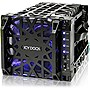 "Icy Dock Black Vortex 4 Bay 3.5"" SATA HDD Cooler Cage - 120mm Fan in 3x5.25"" Bay"