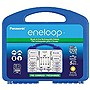 Panasonic Eneloop Charger Kit w/ 8 AA/2 AAA Batteries & C/D Battery Spacers