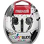 Maxell Color Buds with Mic - Stereo - Silver - Wired - Earbud - Binaural - Outer-ear