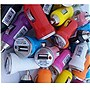 Professional Cable USB Car Chargers - 50 Pack (Mixed Colors)