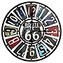 "Taylor 22"" Route 66 Metal Clock with License Plate Design"