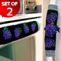 Kitchen Appliance Handle Covers with Grape Design
