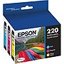 Epson 220 Color Ink Cartridges, C/M/Y (3 Pack)