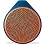 Logitech+X100+Mobile+Bluetooth+Wireless+Speaker%2c+Orange%2fBlue