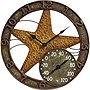 "Taylor 14"" Starfish Clock with Thermometer"