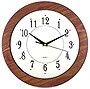 Woodgrain Frame Wall Clock White Dial 12inch