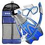 U.S. Divers Adult Icon Seabreeze Snorkel Set, Elect. Blue, Large