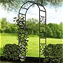 "Panacea 84328 90"" Scroll Garden Arbor w/out Gate - Black"