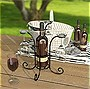 Panacea Wine and Glass Caddy, Black