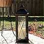 "Smart Solar Salerno 27"" H Triple LED Candle Lantern"