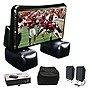 Sima XL-PRO 6ft Inflatable Projection Screen Kit w/ Projector, Speaker, & Bag