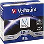 Verbatim M-Disc BD-R 25GB 4X with Branded Surface – 5pk Jewel Case Box