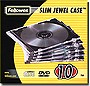 Fellowes Slim Jewel Case 10-Pack