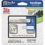 "Brother 12mm (0.47"") Gold on Satin Silver Tape for P-touch, 5m (16.4 ft)"
