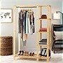 Whitmor Wardrobe - Hanging Bar - Lacquer - Natural Wood, Metal
