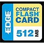 EDGE Tech 512MB Digital Media CompactFlash Card - 512 MB