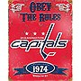 Party Animal Washington Capitals Embossed Metal Sign