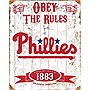 Phillies Embossed Metal Sign